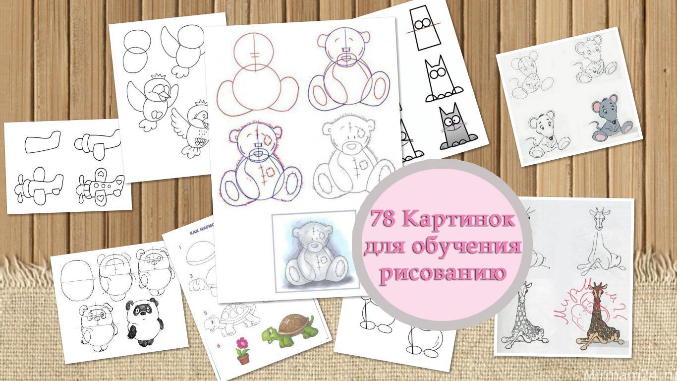 Картинки для обучения рисовать