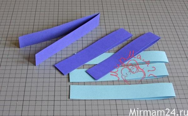 Плетенные рыбки из бумаги