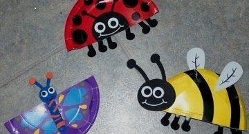 Пчелка, божия коровка, бабочка