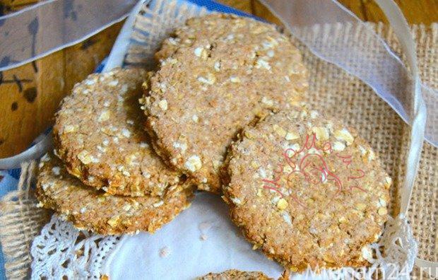 Овсяное печенье из цельнозерновой муки