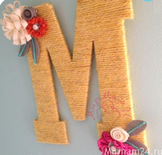 Буквы в декоре интерьера