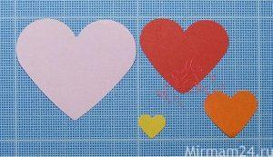 Открытка-картинка из сердечек