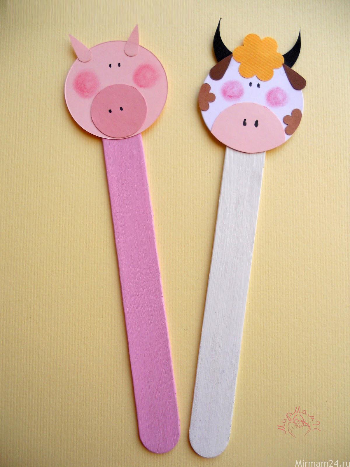 Поделки с палочками от мороженого