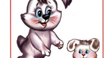 """Картинки для детей """"Зайчиха и зайчонок"""""""