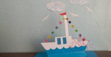 """Поделки для пап """"Кораблик"""""""