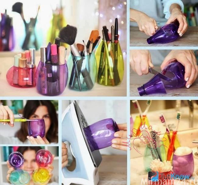 Стаканчики из бутылочек от шампуней