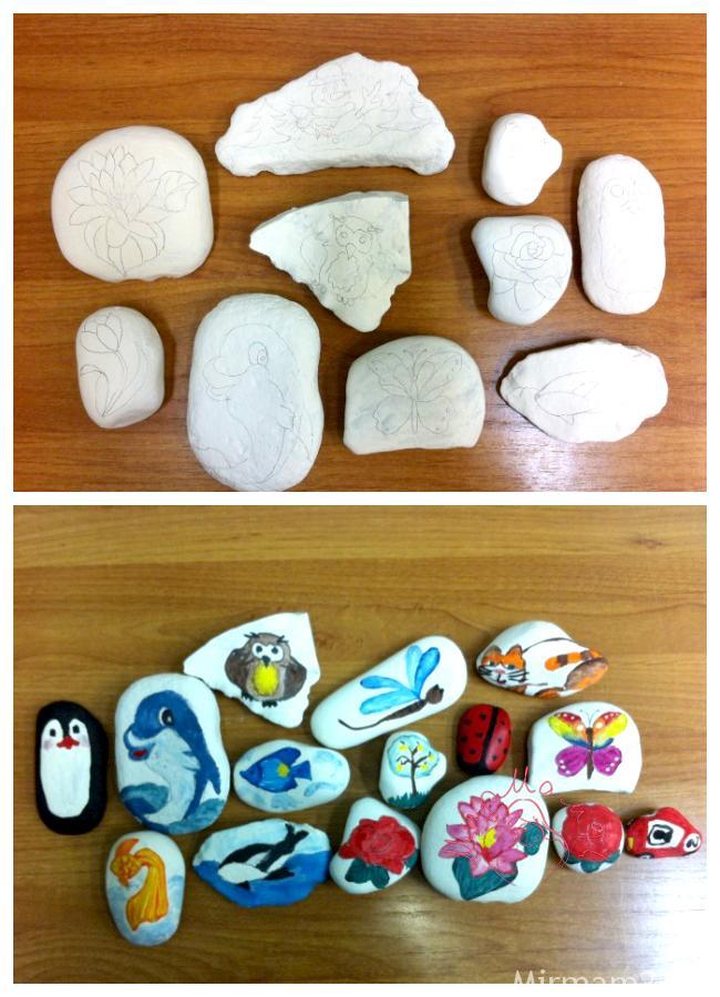 Рисование на камнях